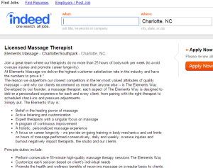 massage therapy jobs